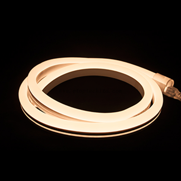 120V 220V Flexible LED Neon Rope Light Silicon Jacket Warm White Yellow